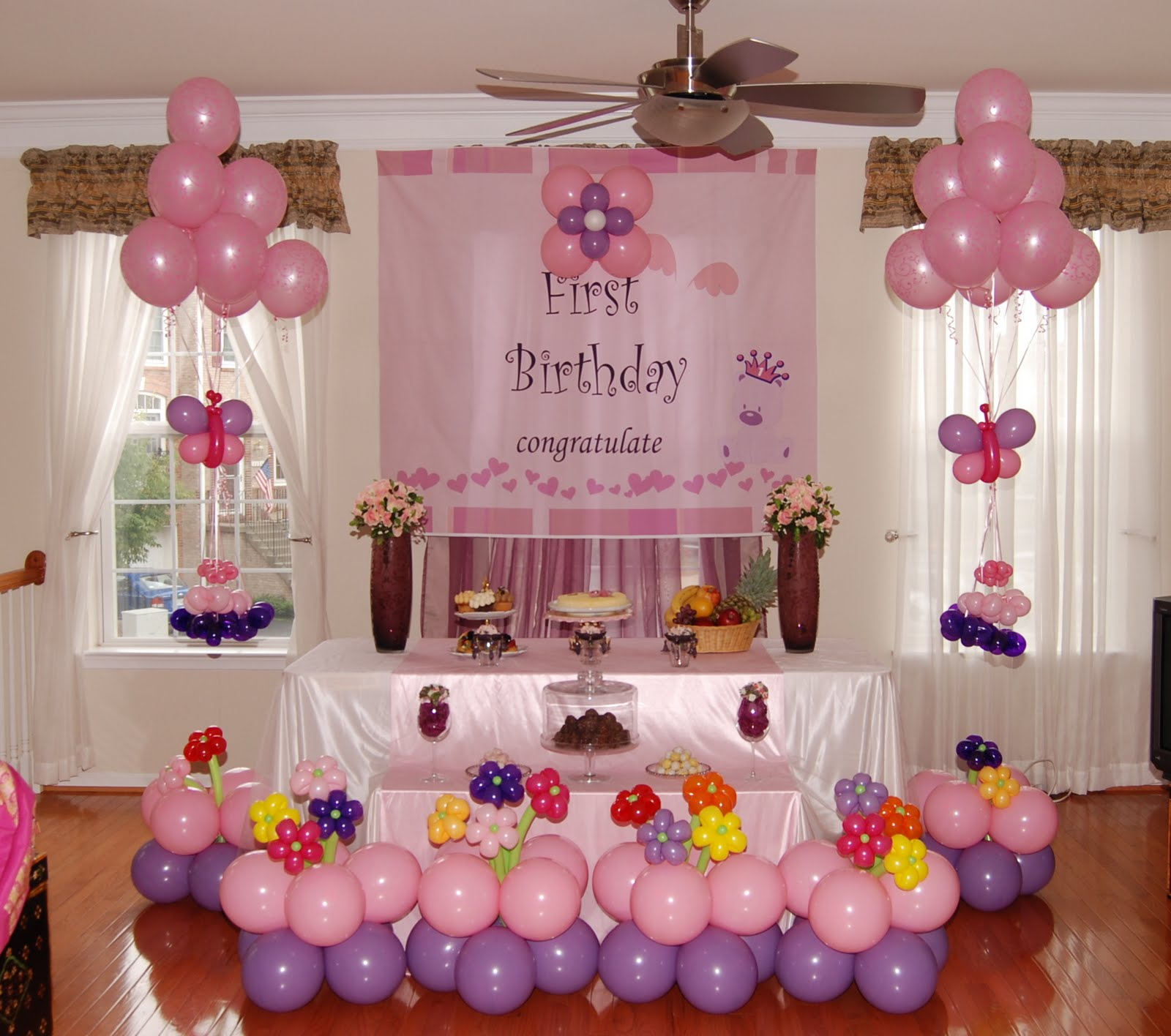 Girl First Birthday Theme Party Decoration Ideas Faridabad Ghaziabad